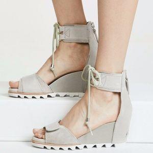 Sorel Joanie Ankle Lace Wedge Sandal